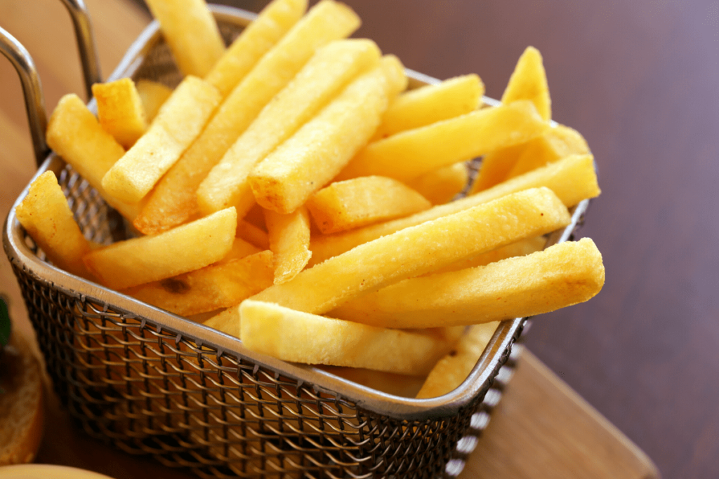 a basket of unhealthy french fries