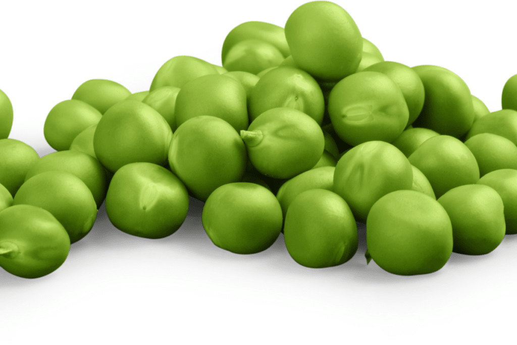 several high fiber green peas