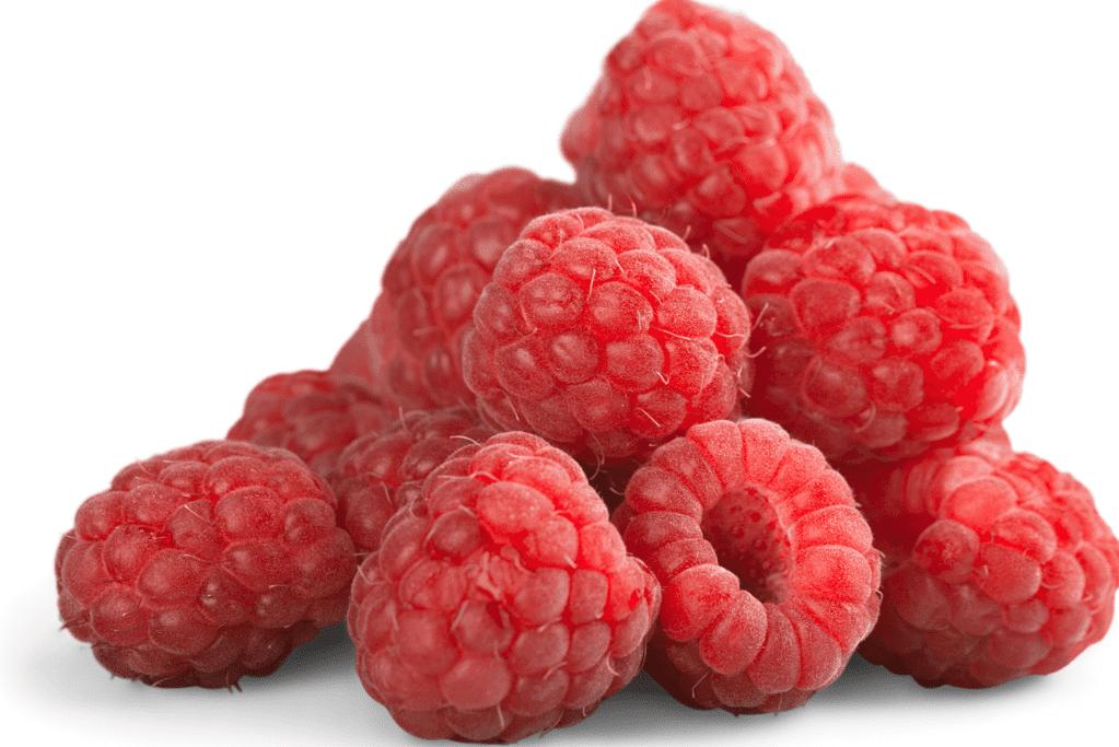 several high fiber raspberries
